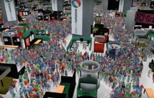 Толпа в Торговом Центре